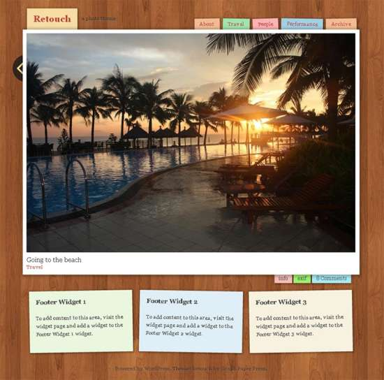 retouch free travel wordpress theme