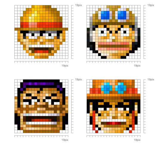 one piece emoticons