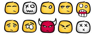 emoticons by contempt digital ink