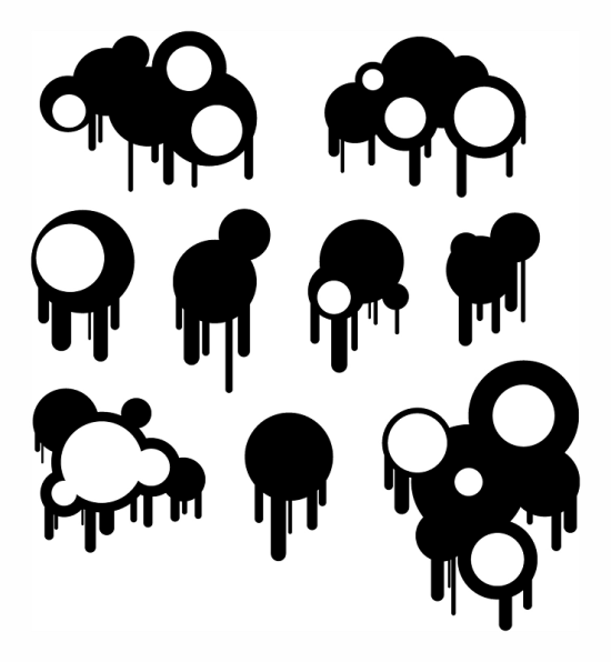 circles and drips easy free adobe illustrator brushes