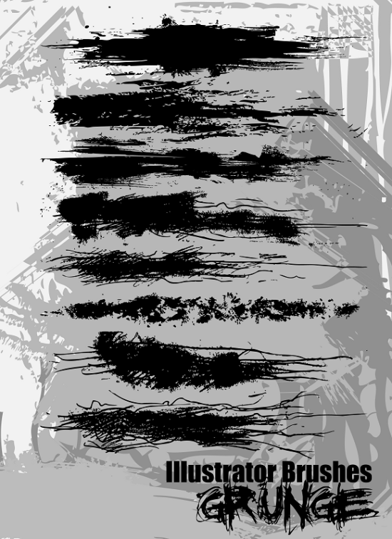 grunge brush set great free adobe illustrator brush put