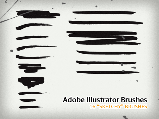 16 sketchy brushes great free adobe illustrator brush package