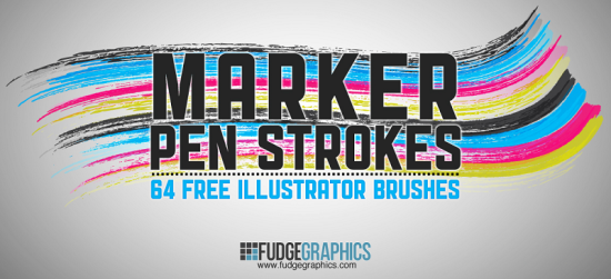 marker pen strokes amazing free adobe illustrator brush put