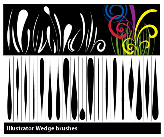 wedge brushes easy free adobe illustrator brush put