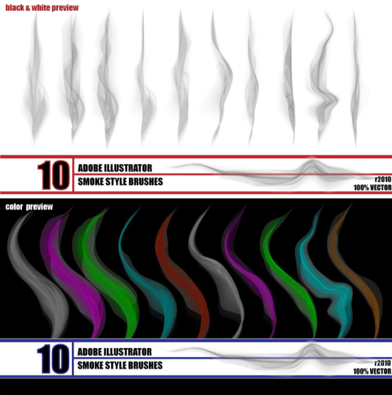 smoke brush amazing free adobe illustrator brush put