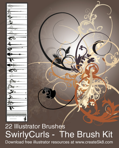 swirlycurls 22 amazing free adobe illustrator brushes
