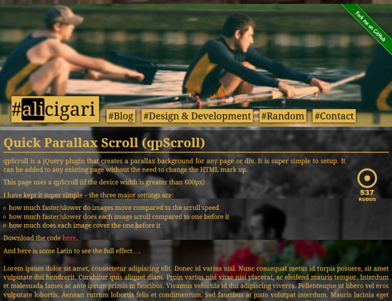 qpscroll simple free jquery parallax scrolling plugin