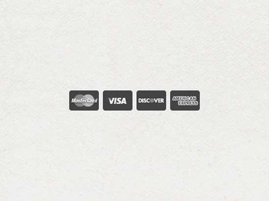 flat credit card icons freebie