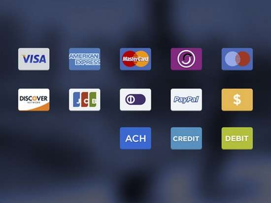 payment choices icons