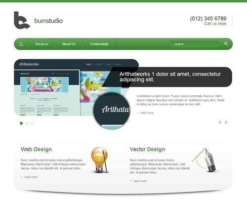 burnstudio responsive website