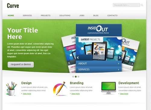 curve corporate template