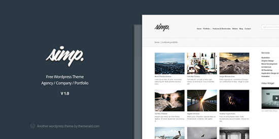 simp free agency wordpress theme
