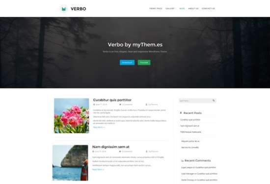 verbo blog wordpress theme