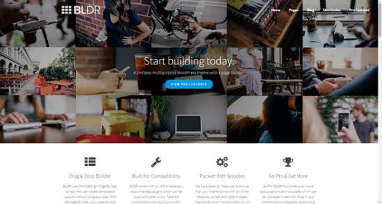 bldr multipurpose wordpress theme