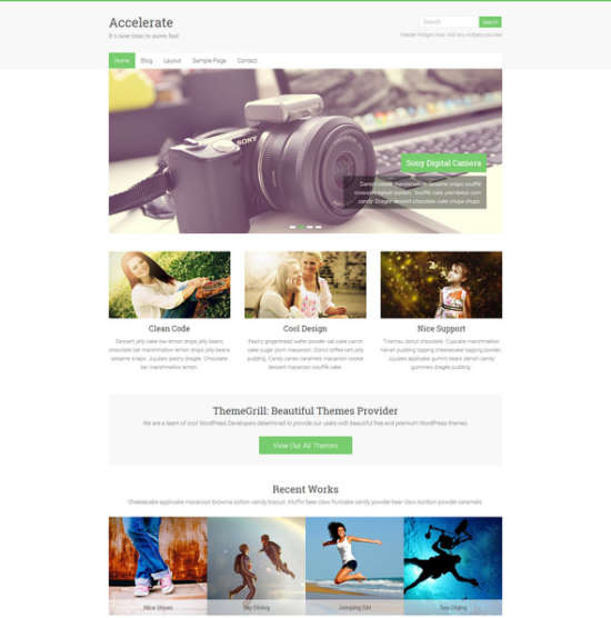 accelerate multipurpose wordpress theme