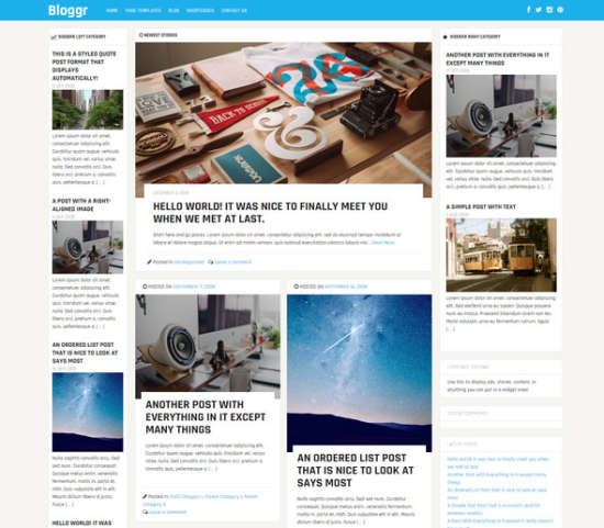 bloggr free magazine theme