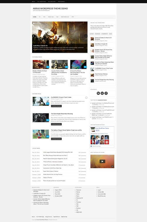 arras wordpress theme 1.5