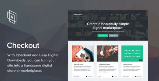checkout wordpress e-commerce theme