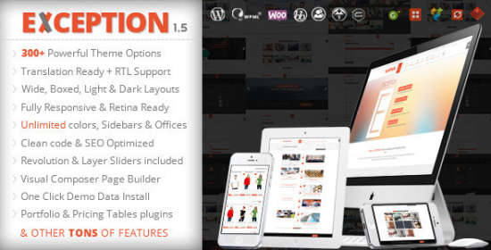 exception responsive multipurpose wordpress theme