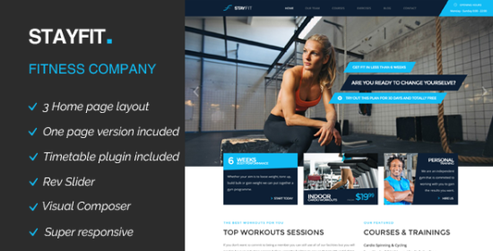 stayfit sports, health, gymnasium fitness wp theme