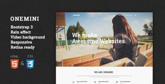 onemini onepage responsive wordpress theme