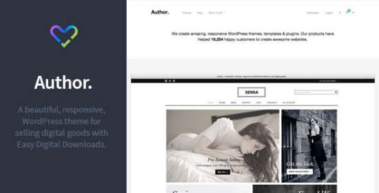 author responsive electronic goods wordpress theme