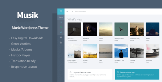 musik responsive music wordpress theme
