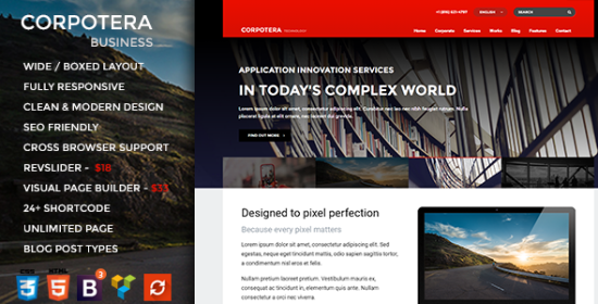 corpotera responsive multipurpose wordpress theme