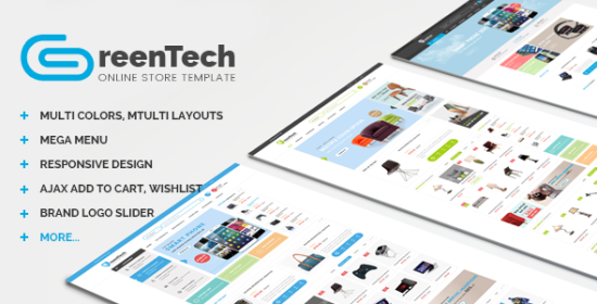 greentech shopping responsive opencart theme