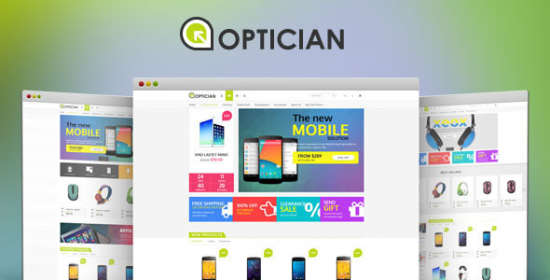 optician responsive opencart electronic theme