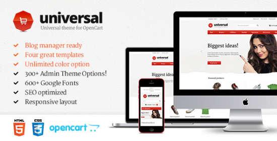 universal premium opencart template