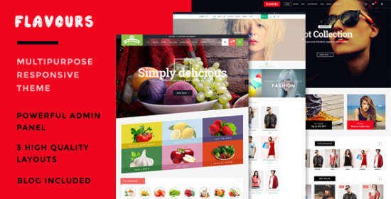 flavours responsive opencart theme