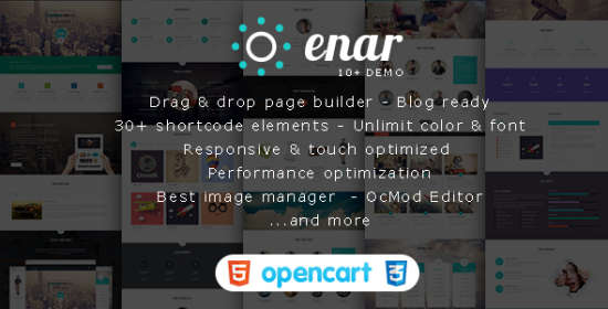 enar multipurpose creative opencart theme