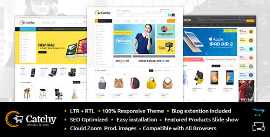 catchy multipurpose opencart theme