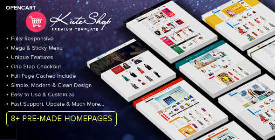 kuteshop multipurpose opencart theme