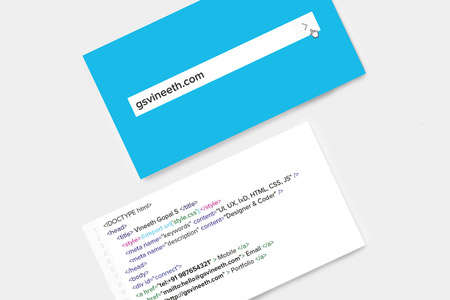 designer coder business card