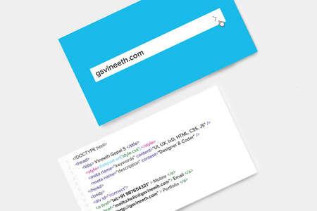 designer coder business card
