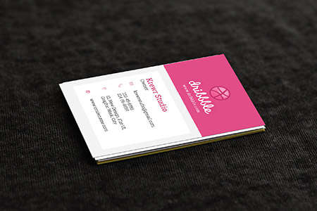 vertical business card concept