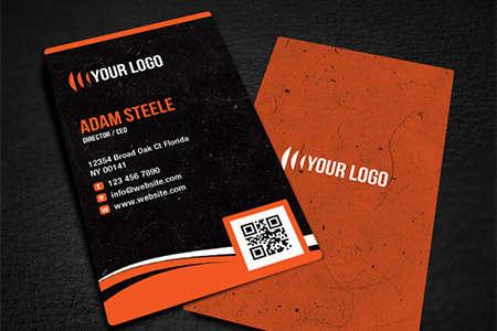 rounded corner business card design