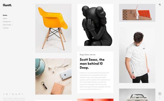 huntt web log portfolio theme website