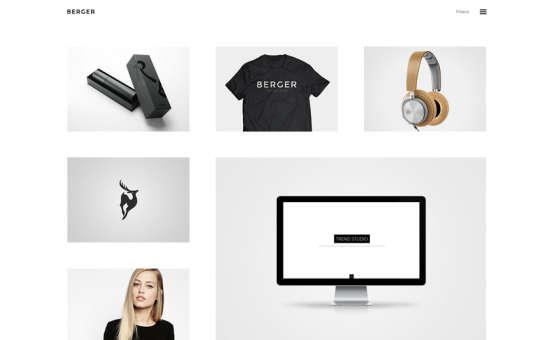 berger portfolio theme website