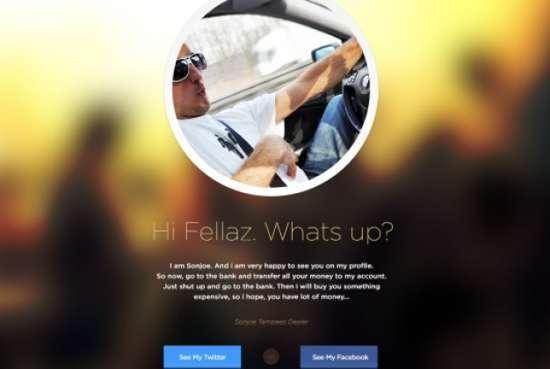 clean profile page flat design