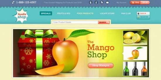 commerce website template design psd