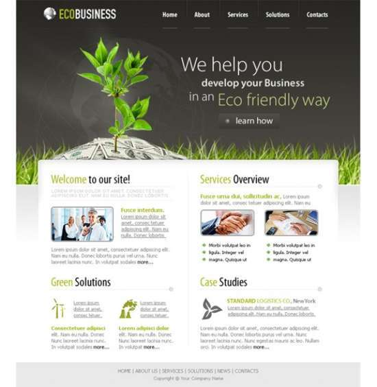 eco business psd template