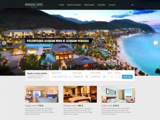 beautiful hotel website template psd