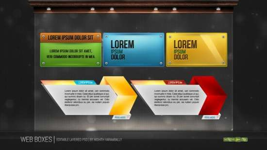 web containers psd
