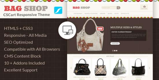 bag store cscart responsive theme