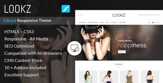 lookz cscart responsive theme