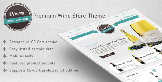 vinary premium wine store theme