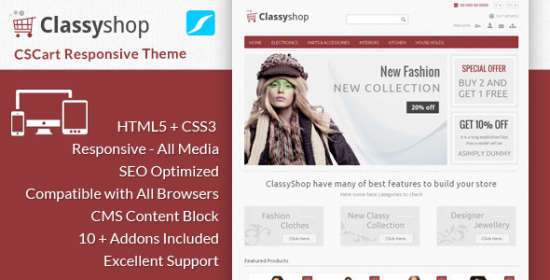 classyshop cs cart responsive theme